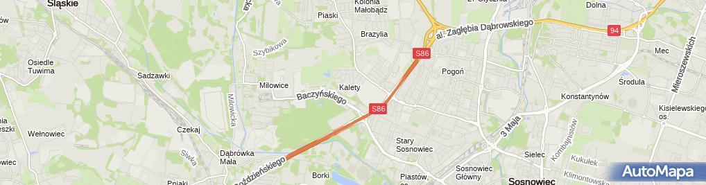 Zdjęcie satelitarne Medyczna Szkoła Policealna Województwa Śląskieg0 Dla Dorosłych