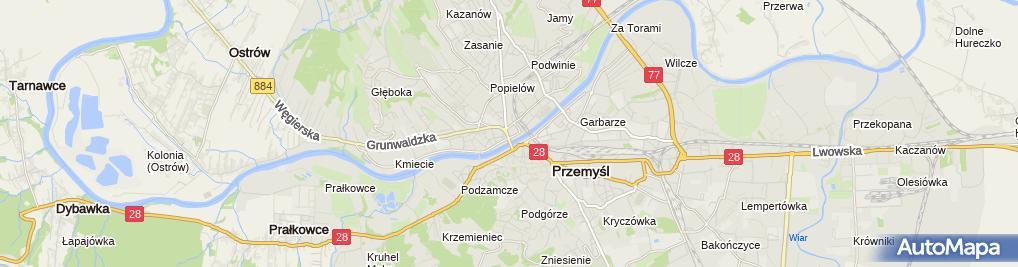 Zdjęcie satelitarne Studium Życia Rodzinnego Archidiecezji Przemyskiej