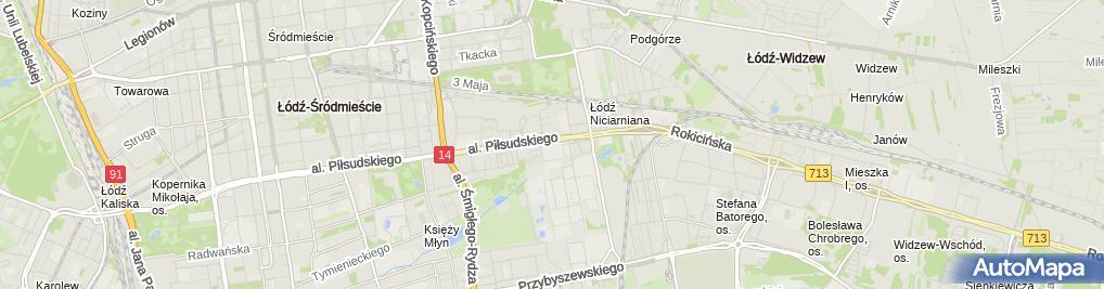 Zdjęcie satelitarne Szkoła Policealna - Florysta