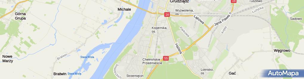 Zdjęcie satelitarne Szkoła Policealna Gsw