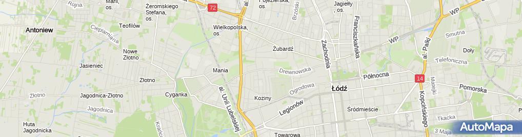 Zdjęcie satelitarne Szkoła Policealna Nr 1