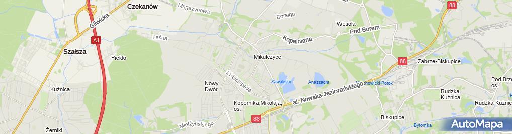 Zdjęcie satelitarne Szkoła Policealna Nr 2
