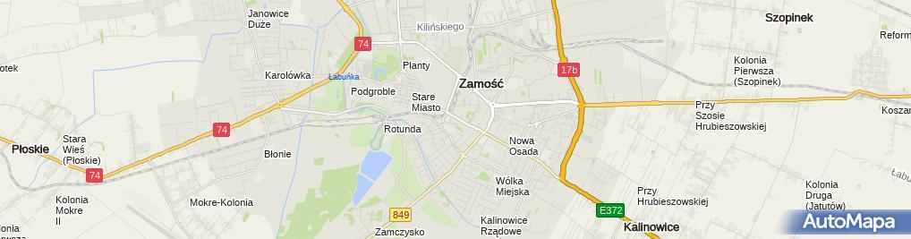 Zdjęcie satelitarne Medyczne Studium Zawodowe im. Stanisławy Leszczyńskiej