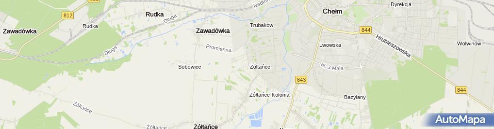 Zdjęcie satelitarne SP i Gimnazjum Publiczne