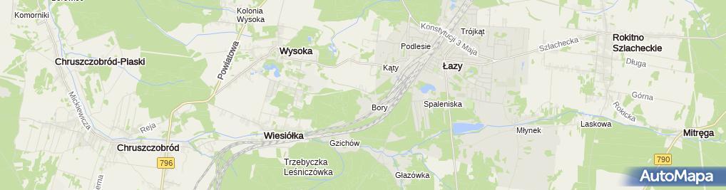 Zdjęcie satelitarne Zespół Szkół im. prof. Romana Gostkowskiego