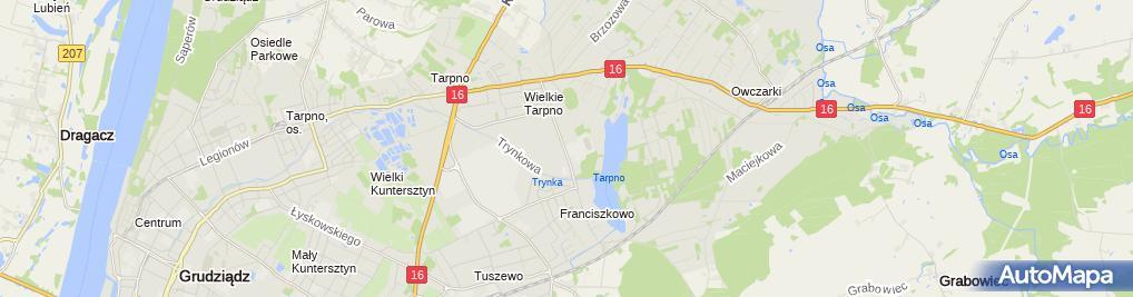 Zdjęcie satelitarne Zespół Szkół Rolniczych im. Władysława Grabskiego