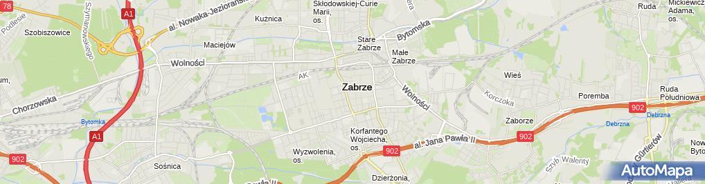 Zdjęcie satelitarne Firma Szkoleniowa Domino Danuta Maślanik