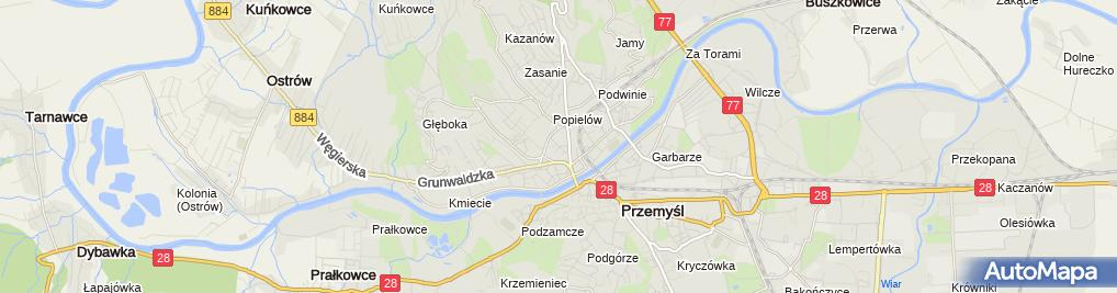 Zdjęcie satelitarne Podkarpackie Centrum Edukacji Nauczycieli (PCEN) o/Przemyśl