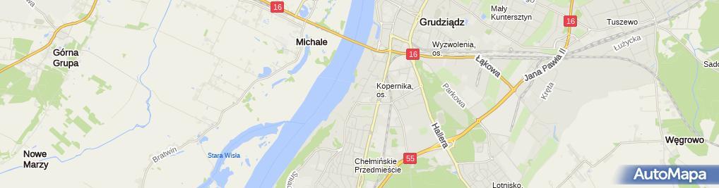 Zdjęcie satelitarne Regionalny Szpital Specjalistyczny - Oddział Psychiatryczny