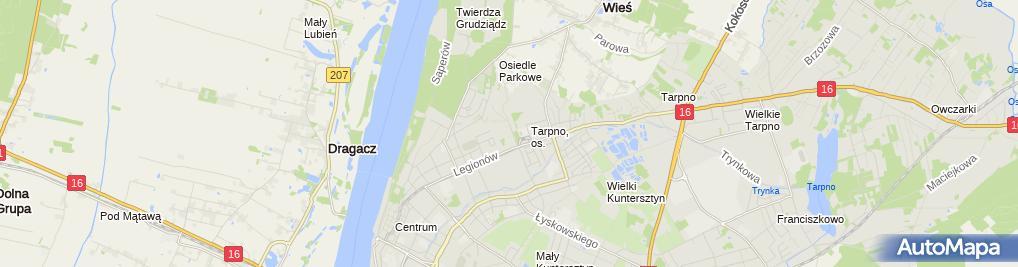 Zdjęcie satelitarne Regionalny Szpital Specjalistyczny - oddziały