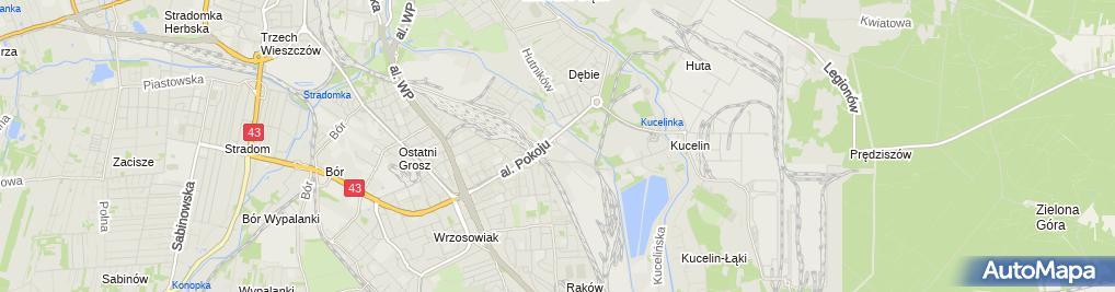 Zdjęcie satelitarne Szpital Hutniczy