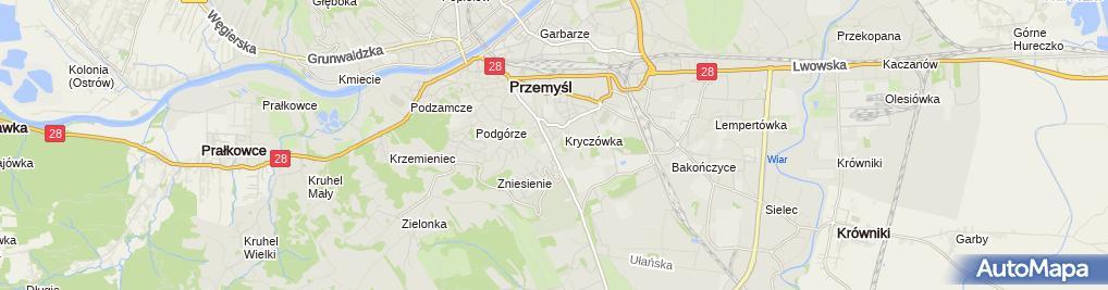 Zdjęcie satelitarne Szpital Wojskowy Nr 114