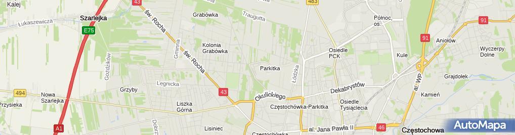 Zdjęcie satelitarne Wojewódzki Szpital Specjalistyczny im. NMP
