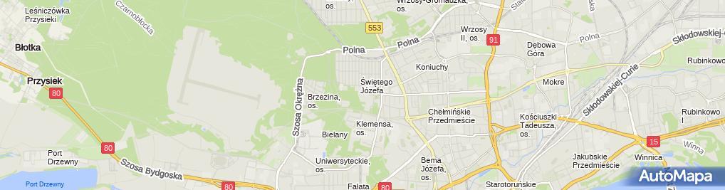 Zdjęcie satelitarne Wojewódzki Szpital Zespolony im. Ludwika Rydygiera