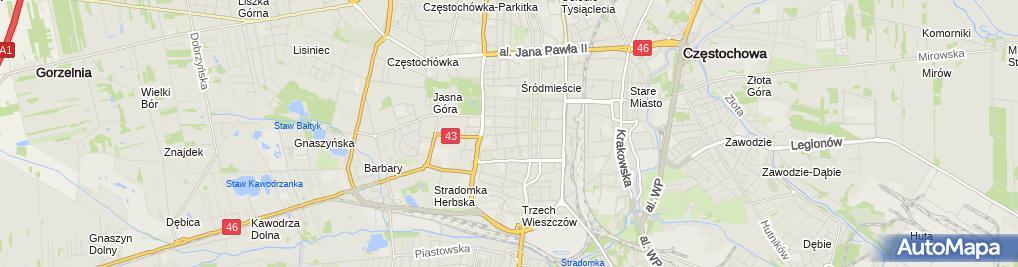 Zdjęcie satelitarne ZOZ MSWiA - Poliklinika w Częstochowie