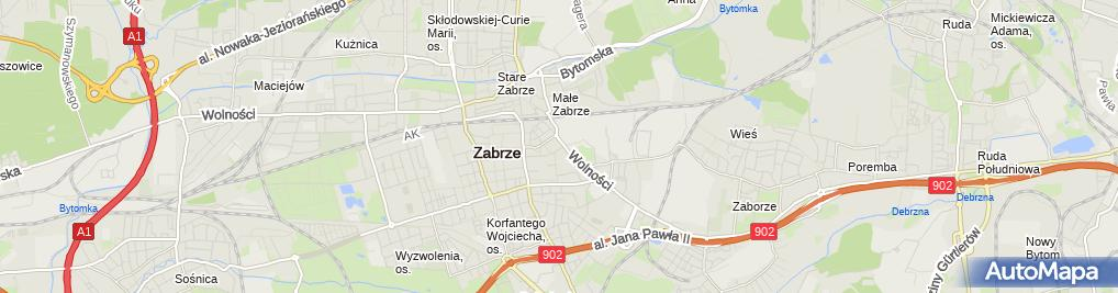 Zdjęcie satelitarne Zabrzański Klub Karate Kyokushinkai