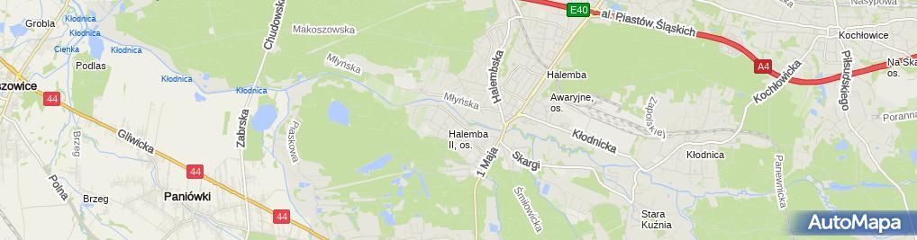 Zdjęcie satelitarne Targowisko Halemba II