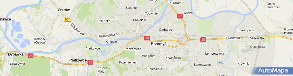 Zdjęcie satelitarne Zielona Słuchawka