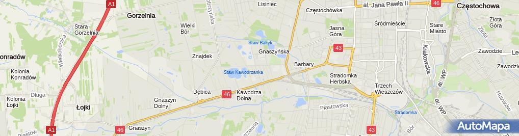 Zdjęcie satelitarne Biuro Tłumaczeń Astrid Tłumacz Przysięgły Języka Niemieckiego MGR