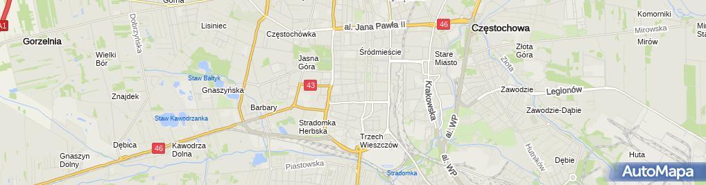 Zdjęcie satelitarne Janusz Wyszyński Biuro Germanista Tłumaczenia