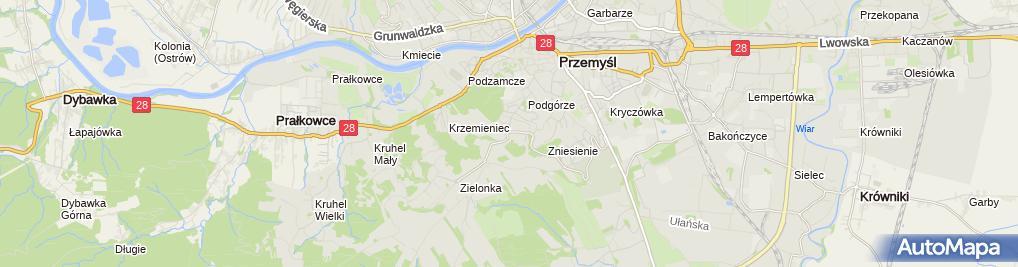 Zdjęcie satelitarne Tor saneczkowy