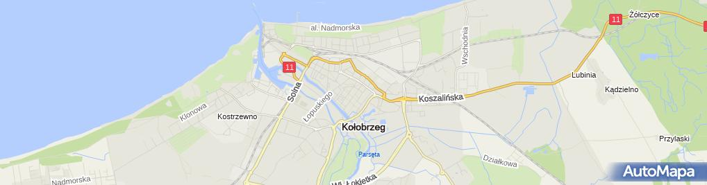 Zdjęcie satelitarne Trafostacja