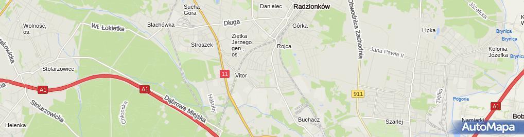 Zdjęcie satelitarne Raczek-Trans Usługi Transportowe A. Raczek
