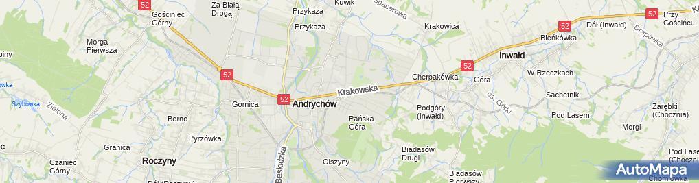 Zdjęcie satelitarne Trener Personalny Agnieszka Trzaska Andrychów
