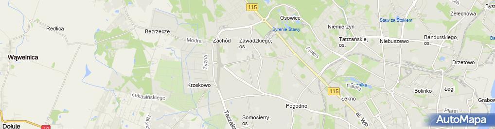 Zdjęcie satelitarne Na Wernyhory