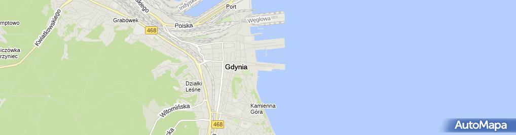 Zdjęcie satelitarne Szkoła żeglarstwa DK Sailing Gdynia