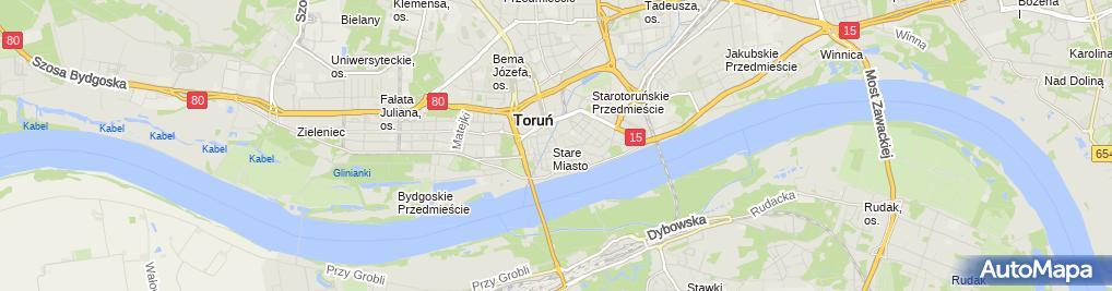 Zdjęcie satelitarne Średniowieczny zespół staromiejski Torunia