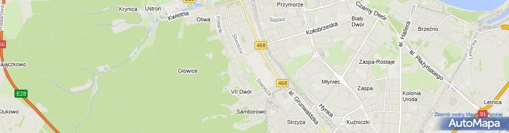 Zdjęcie satelitarne Wydział Filologiczny