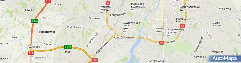 Zdjęcie satelitarne Instytut Muzyki Uniwersytetu Rzeszowskiego