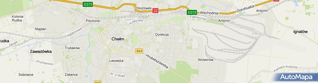 Zdjęcie satelitarne Szkoła Wyższa im. B. Jańskiego