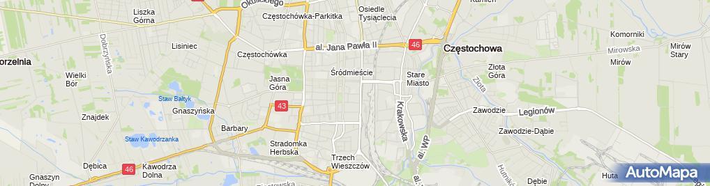 Zdjęcie satelitarne Wyższa Szkoła Pedagogiczna