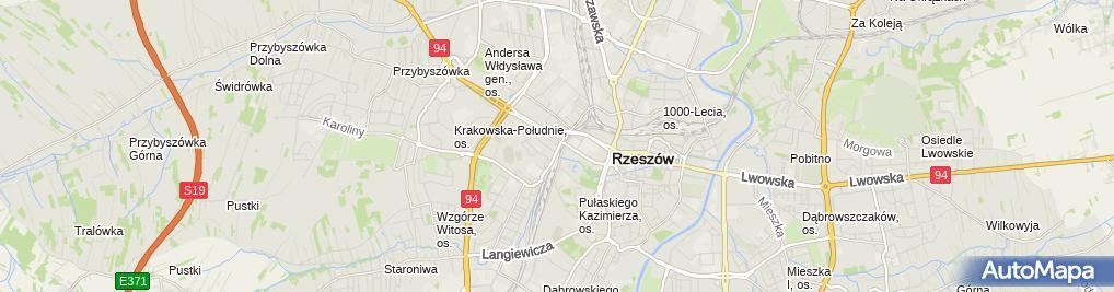 Zdjęcie satelitarne Rzeszowski - Wydział Prawa i Administracji