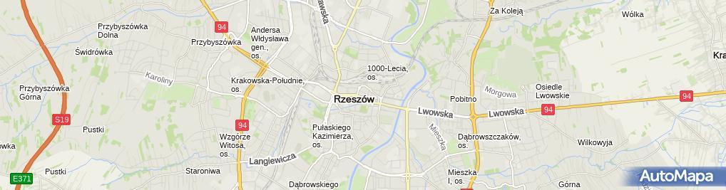 Zdjęcie satelitarne Rzeszowski Wydział Wychowania Fizycznego