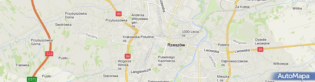 Zdjęcie satelitarne Uniwersytet Rzeszowski - Kolegium Nauk Medycznych