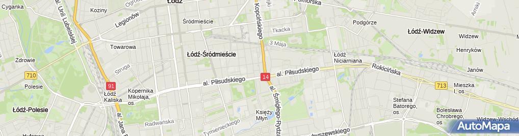 Zdjęcie satelitarne Urząd Dozoru Technicznego Oddział w Łodzi