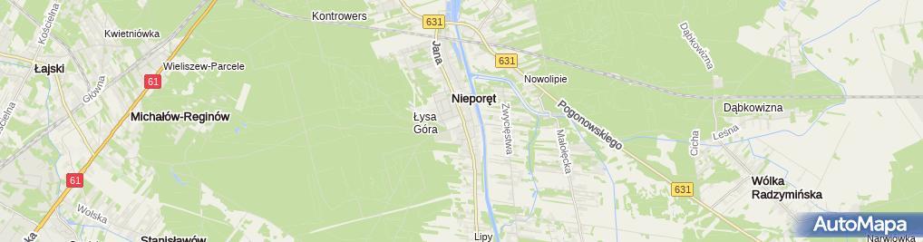 Zdjęcie satelitarne Urząd Gminy Nieporęt