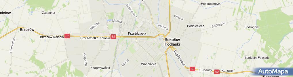 Zdjęcie satelitarne Urząd Gminy Sokołów Podlaski