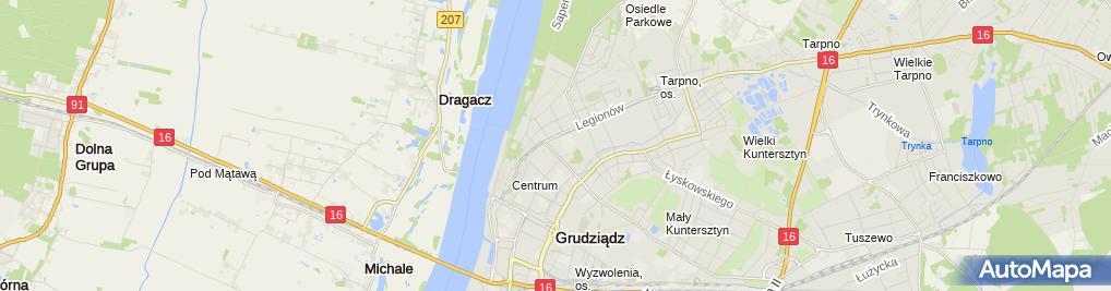 Zdjęcie satelitarne Urząd Gminy w Grudziądzu