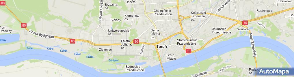 Zdjęcie satelitarne Komornik Sądowy przy Sądzie Rejonowym w Toruniu Jarosław Grajko