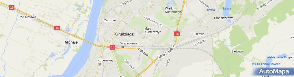 Zdjęcie satelitarne Zarząd Dróg Miejskich w Grudziądzu