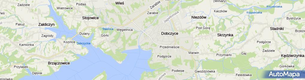 Zdjęcie satelitarne Urząd Gminy i Miasta Dobczyce