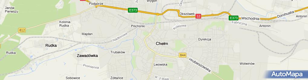 Zdjęcie satelitarne Urząd Miasta Chełm
