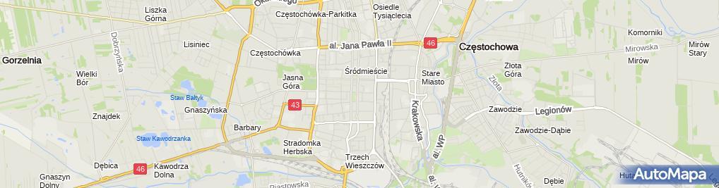Zdjęcie satelitarne Urząd Miasta Częstochowy