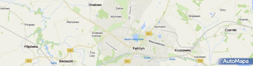 Zdjęcie satelitarne Urząd Miasta Kętrzyn