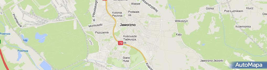 Zdjęcie satelitarne Urząd Miejski w Jaworznie