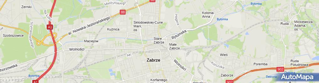 Zdjęcie satelitarne Urząd Miejski w Zabrzu